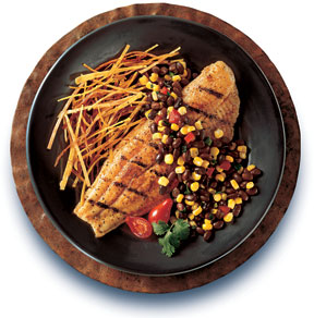 Grilled Catfish with Black Bean Salsa